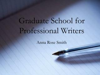 Graduate School for Professional Writers