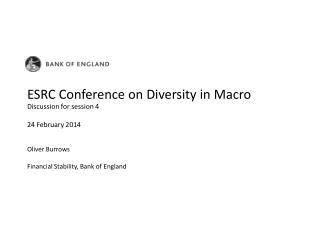 ESRC Conference on Diversity in Macro
