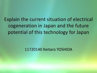 11720140  Keitaro  YOSHIDA