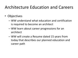 Architecture Education and Careers