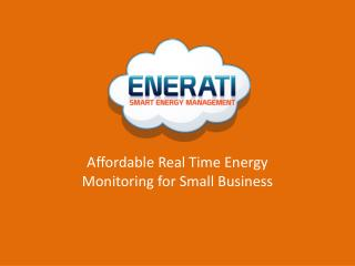 Affordable Real  T ime Energy Monitoring for Small Business