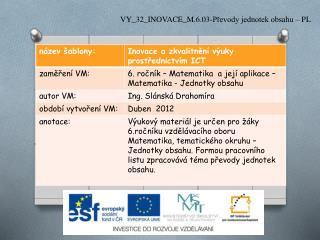 VY_32_INOVACE_M.6.03-Převody jednotek obsahu – PL