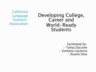 California Language Teachers' Association
