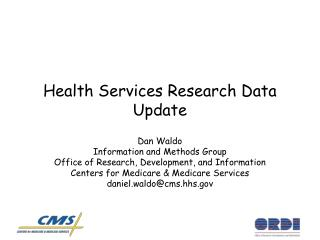Health Services Research Data Update