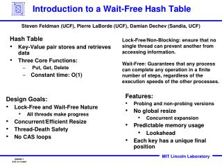 Introduction to a Wait-Free Hash Table