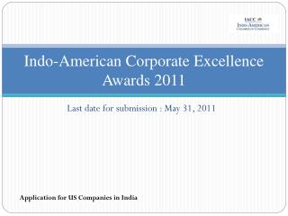 Indo-American Corporate Excellence Awards 2011