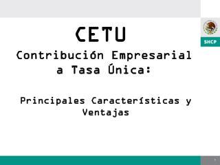 Contribuci n Empresarial a Tasa  nica: