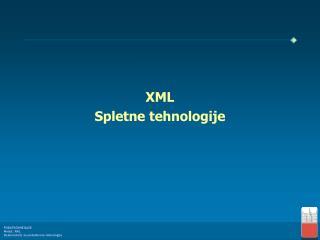 XML Spletne tehnologije