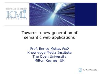 Towards a new generation of semantic web applications