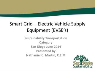 Smart Grid –  Electric Vehicle Supply Equipment (EVSE's)