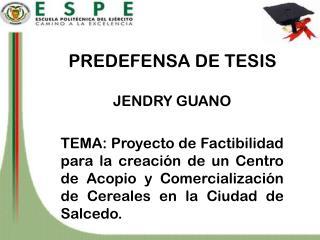 PREDEFENSA DE TESIS
