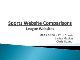 Sports Website Comparisons League Websites