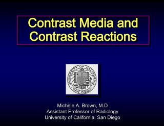 Contrast Media and Contrast Reactions