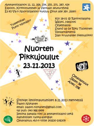 Nuorten Pikkujoulut 23.11.2013