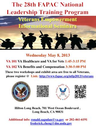 The 28th FAPAC National  Leadership Training Program Veterans Empowerment Informational Seminars