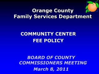 Orange County Family Services Department