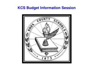 KCS Budget Information Session