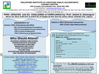 PHILIPPINE INSTITUTE OF CERTIFIED PUBLIC ACCOUNTANTS LAGUNA CHAPTER