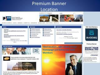 Premium Banner Location