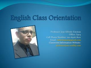 English Class Orientation