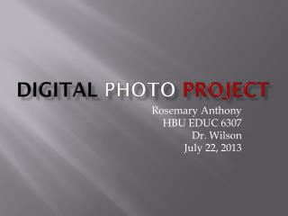 Digital photo project