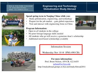 Engineering and Technology Globalization Study Abroad