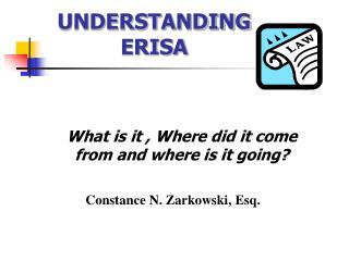 UNDERSTANDING ERISA