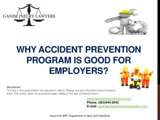 Why  Accident Prevention Program is Good for Employers?