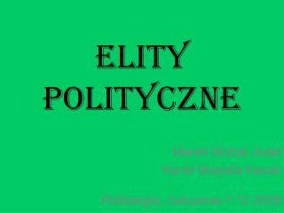 ELITY POLITYCZNE
