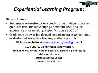 Experiential Learning Program :