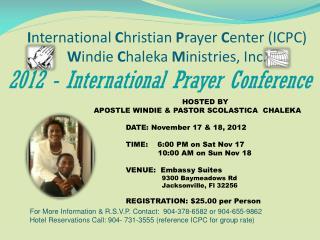 2012 - International Prayer Conference