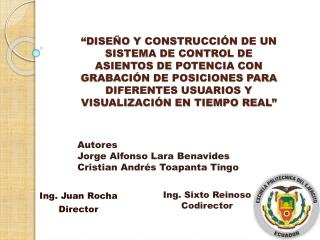 Ing. Juan Rocha Director