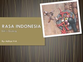 RASA INDONESIA Edisi Gudeg