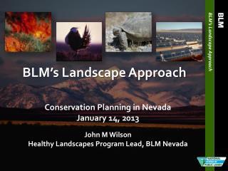 BLM's  Landscape Approach