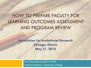 How to Prepare Faculty for Learning Outcomes Assessment and Program Review