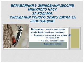 Виконала:   вчитель початкових класів Бейбудова Олена Іванівна ;