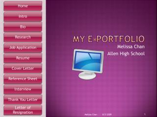 My E-Portfolio