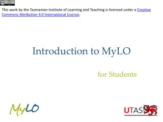 Introduction to  MyLO
