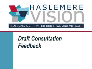 Draft Consultation  Feedback