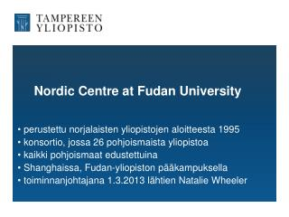 Nordic Centre at Fudan University