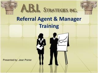 Referral Agent & Manager Training