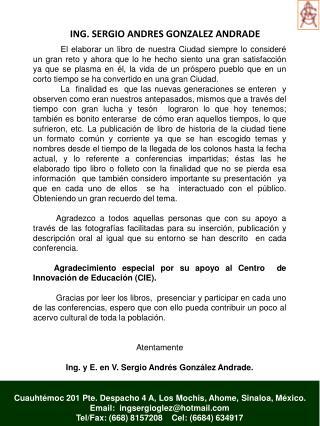 ING. SERGIO ANDRES GONZALEZ ANDRADE
