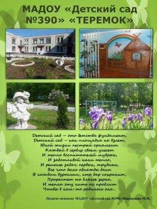 МАДОУ «Детский сад №390» «ТЕРЕМОК»