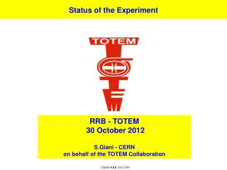Status of the Experiment
