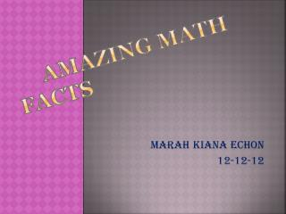 Amazing  Math Facts