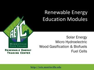 Renewable Energy Education  Modules