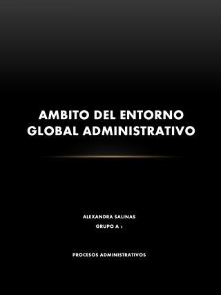 AMBITO DEL ENTORNO GLOBAL ADMINISTRATIVO