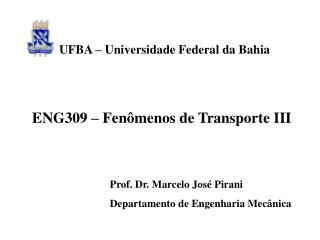 ENG309   Fen menos de Transporte III