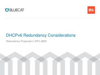 DHCPv6 Redundancy Considerations