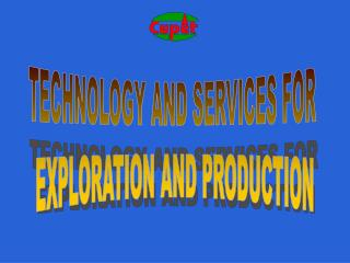 TECHNOLOGY AND SERVICES FOR  EXPLORATION AND PRODUCTION